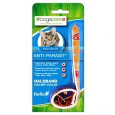 Reflexní antiparazitní obojek pro kočky BOGACARE, stříbrný