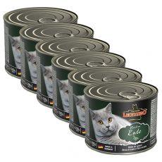 Konzerva pro kočky Leonardo, kachna 6 x 200 g
