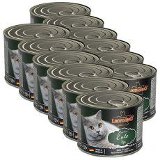 Konzerva pro kočky Leonardo, kachna 12 x 200 g