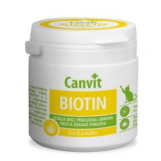 Canvit Biotin – přípravek na zdravou a lesklou srst koček 100 tbl. / 100 g
