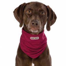 Repelentní šátek pro psy L, bordový