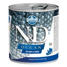 Farmina N&D dog Sea Bass & Squid konzerva 285 g