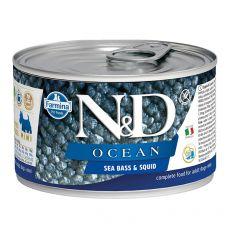Farmina N&D dog Sea Bass & Squid konzerva 140 g