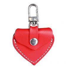 Adresář pro psa – kožené srdce, červené