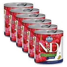 Farmina N&D dog Quinoa Digestion konzerva 6 x 285 g, 5+1 GRATIS
