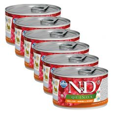 Farmina N&D dog Quinoa Herring & Coconut 6 x 140 g, 5+1 GRATIS