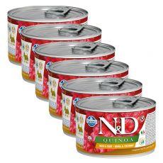 Farmina N&D dog Quinoa Quail & Coconut 6 x 140 g