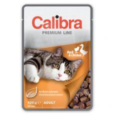 CALIBRA Cat Adult kachní a kuřecí kousky v omáčce 100 g
