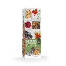 PUUR PAUZE sticks Forest Friut – tyčinky s lesním ovocem pro hlodavce 2 ks