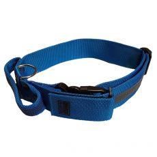 Modrý bezpečnostní obojek s rukojetí 40–65 cm, 40 mm