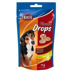 Trixie Vitamin Drops - vitamínové dropsy (šunka) - 75 g