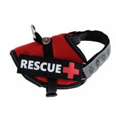 Postroj pro psy Rescue XS 30–40 cm, červený