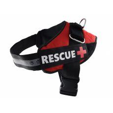 Postroj pro psy Rescue L 70–95 cm, červený