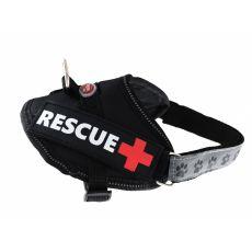 Postroj pro psy Rescue XS 30–40 cm, černý