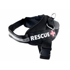 Postroj pro psy Rescue XL 75–105 cm, černý