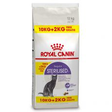 Royal Canin STERILISED 10 kg + 2 kg GRATIS