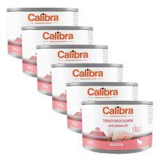 Calibra Cat Sensitive GF – Krůta a losos s lososovým olejem, konzerva 6 x 200g