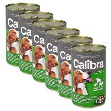 Konzerva Calibra Dog Adult jehně, hovězí a kuře v želé, 6 x 1240g
