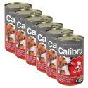 Konzerva Calibra Dog Adult hovězí, játra a zelenina v želé, 6 x 1240g