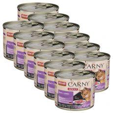 Krmivo CARNY ADULT hovězí + jehně 12 x 200 g