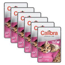 CALIBRA Cat Kitten kuřecí a krůtí kousky v omáčce 6 x 100 g