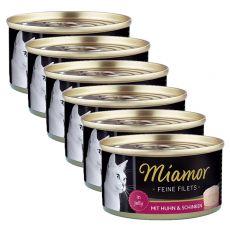 Konzerva Miamor Filet kuře a šunka 6 x 100 g