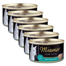 Konzerva Miamor Filet tuňák a rýře 6 x 100 g