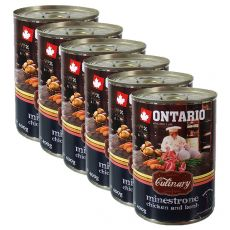 Konzerva ONTARIO Culinary Minestrone Chicken and Lamb 6 x 400 g