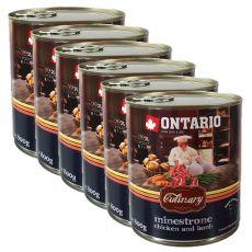 Konzerva ONTARIO Culinary Minestrone Chicken and Lamb 6 x 800 g