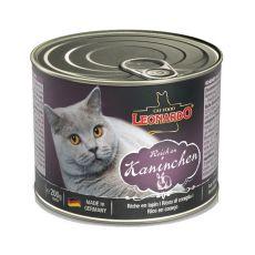Konzerva po kočku Leonardo - Králík 200 g
