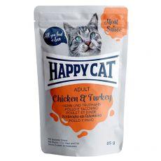 Kapsička Happy Cat MEAT IN SAUCE Adult Chicken & Turkey 85 g