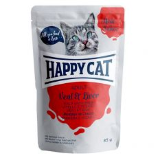 Kapsička Happy Cat MEAT IN SAUCE Adult Veal & Liver 85 g