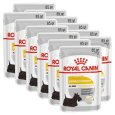 Royal Canin Dermacomfort Dog Loaf kapsička s paštikou pro psy s problémy s kůží 12 x 85 g