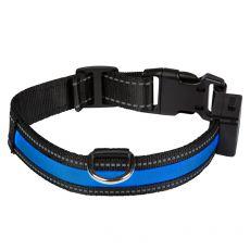 Svítící USB obojek EYENIMAL, modrý L