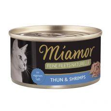 Konzerva Miamor Feine Filets tuňák a krevety v omáčce 80 g
