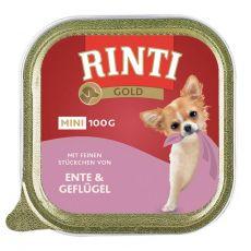 Konzerva Rinti Gold Mini Adult kachna a kuře 100 g