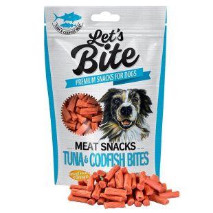 Let's Bite Meat Snacks Tuna & Codfish Bites 80 g