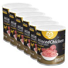 Konzerva MARTY Deluxe Minced Chicken & Beef Cubes 6 x 800 g