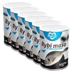 Konzerva pro kočky MARTY Premium Fish 6 x 400 g
