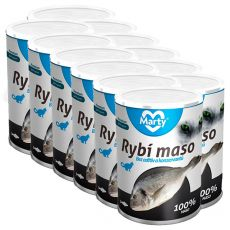 Konzerva pro kočky MARTY Premium Fish 12 x 400 g