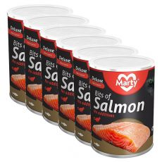 Konzerva pro kočky MARTY Deluxe Bits of Salmon 6 x 400 g
