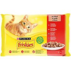 Kapsičky Friskies Cat kuře, hovězí, jehněčí a kachna ve šťávě 4 x 85 g