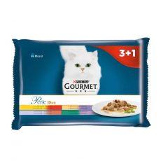 Kapsičky Gourmet Perle Duo masový mix 4 x 85 g