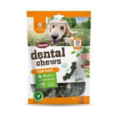 Dentální kartáčky DENTAL Chews Yum Rope s mátou a čajem 170 g / 22 ks