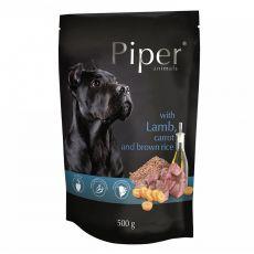 Kapsička Piper Adult s jehněčím, mrkví a hnědou rýží 500 g
