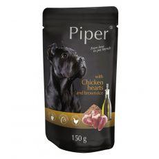 Kapsička Piper Adult s kuřecími srdci a hnědou rýží 150 g
