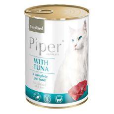 Konzerva Piper Cat Sterilised s tuňákem 400 g