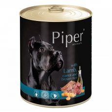 Konzerva Piper Adult s jehněčím, mrkví a hnědou rýží 800 g
