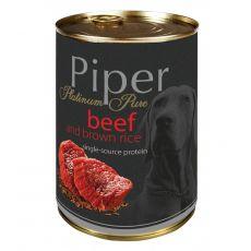 Konzerva Piper Platinum Pure hovězí a hnědá rýže 400 g