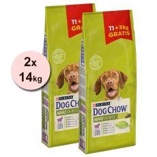 PURINA DOG CHOW ADULT Lamb 2 x 11 + 6 kg GRATIS